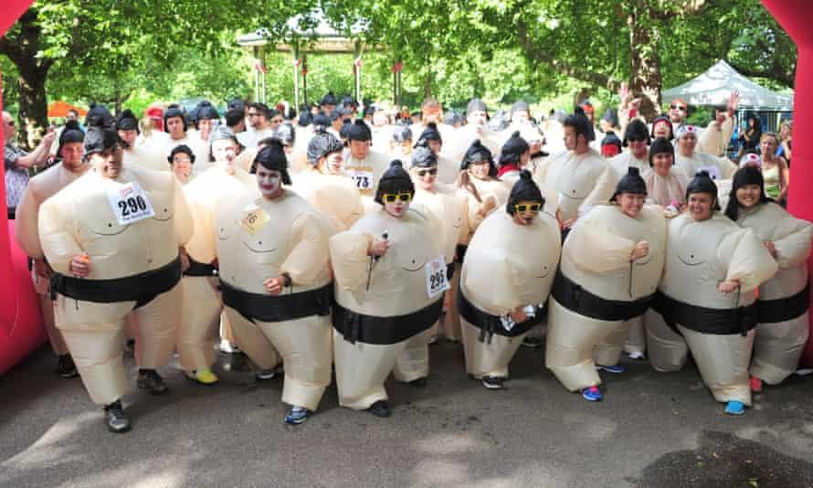 Sumo run in Battersea Park