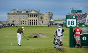 The Royal & Ancient Golf Club at St Andrews during the Open championship in 2010