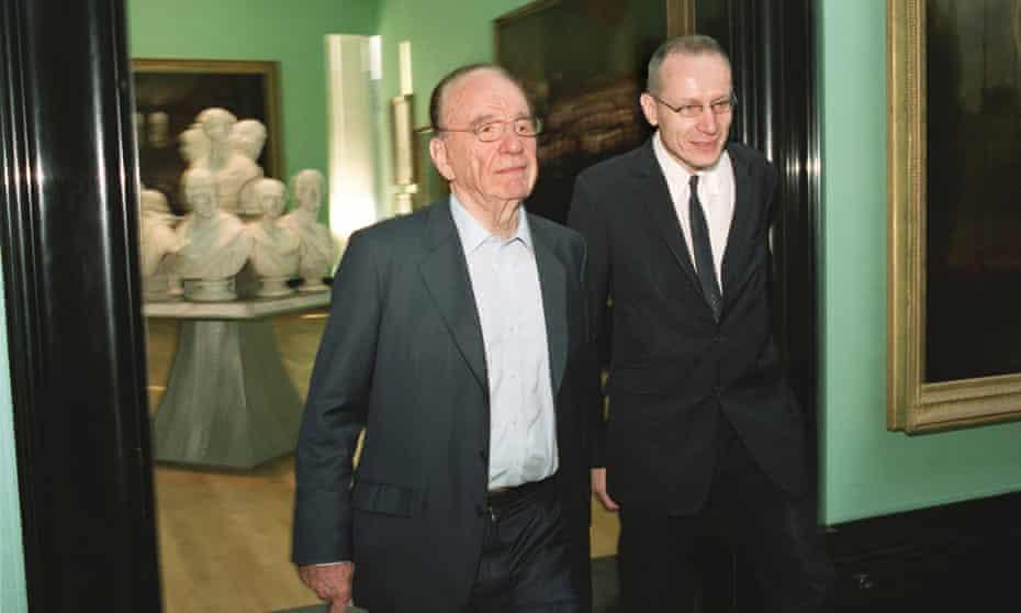 Robert Thomson and Rupert Murdoch