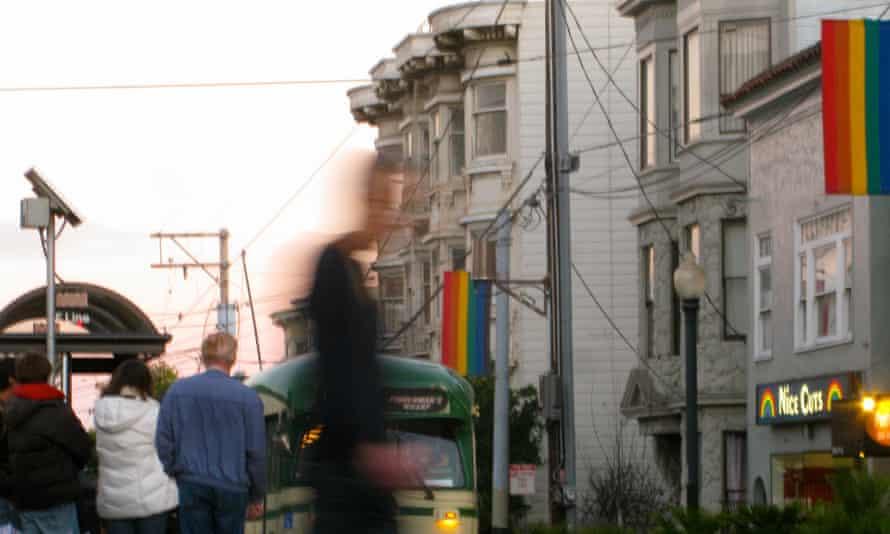 San Francisco gay pride flags
