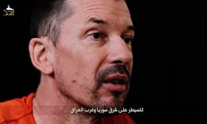 An image of John Cantlie taken from the video.