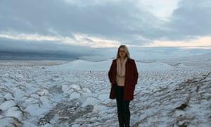 Hannah Kent in Iceland.