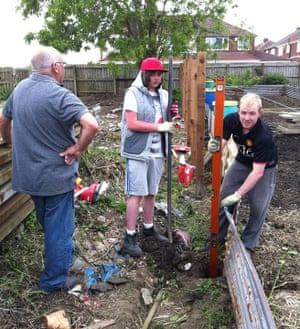 Teenagers help transform Hartlepool Team 34 allotment