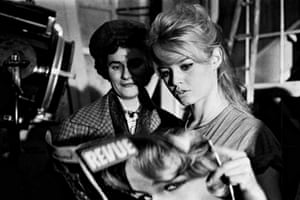 Bardot on the set of the film Babette s'en va-t-en guerre (Babette Goes to War) in 1959. It was a big year for her.