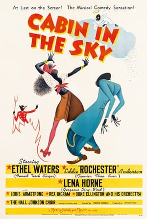Cabin in the Sky (1943) This is one of the few American posters where the identity of the artist is known. 'Al Herschfield was a highly regarded artist in advertising' says Kisch 'this poster is simple but exciting.'