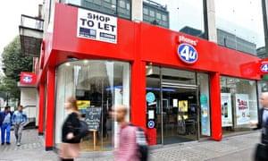 A closed Phones 4u store in London.