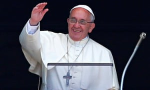 Pope Francis addresses the crowds in St Peter's Square