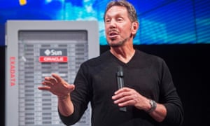 Oracle Corp's Larry Ellison introduces the Oracle Database In-Memory during a launch event at the company's headquarters in Redwood Shores, California.