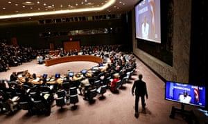 UN security council members watch Jackson Niamah