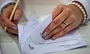 Counting under way in Aberdeen