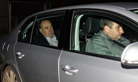 Alex Salmond in his car