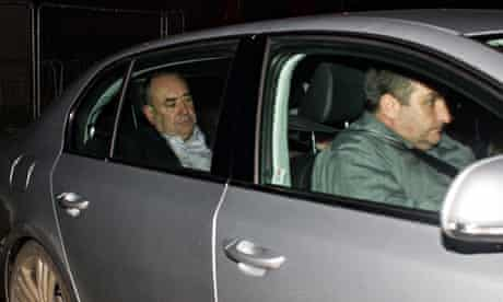 Alex Salmond in his car