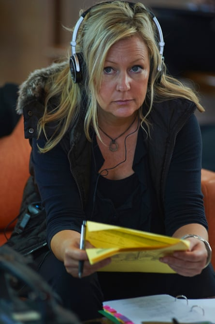 Shelley Birse on the set of The Code
