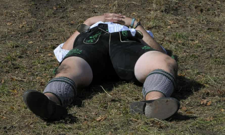 Oktoberfest sleeping