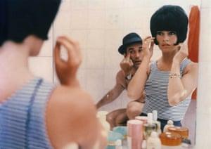 Brigitte Bardot and Michel Piccoli in Le Mepris (Contempt) directed by Jean-Luc Godard in 1963.