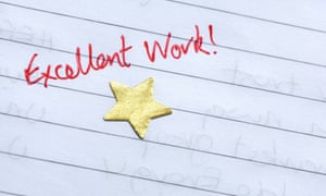 Gold star in text book