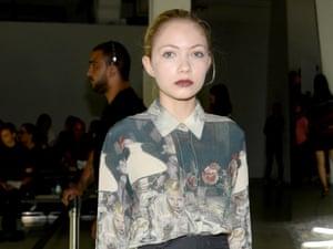 Tavi Gevinson at the Rodarte fashion show earlier this month