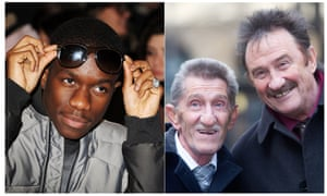 Tinchy Stryder and the Chuckle Brothers - composite created by the Guardian