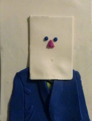 Saul Steinberk in Nose Mask, New York, September 30 1966 by Irving Penn