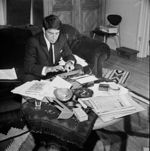 Montreal, Autumn 1963 Cohen at work in his home town, with his new, debut novel, The Favourite Game, on the desk. He described negative reviewers as 'unhappy people who've failed in an art form they would have liked to excel in'.