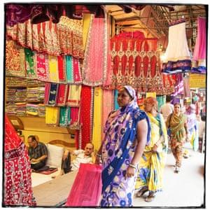 Dilli Haat market stall, Delhi.