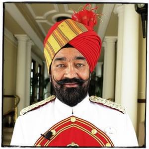 Doorman at the Imperial hotel, Delhi.
