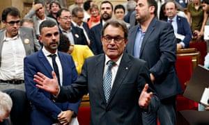 Catalonia's leader Artur Mas