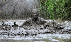 20 photos: Competitors take part in the Jaffa Cake Mud Madness race at Foymore Lodge