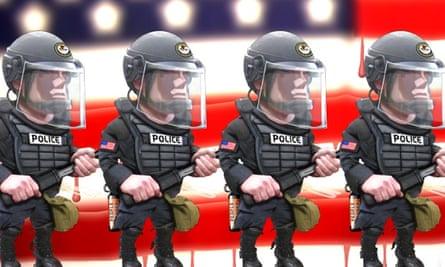 military police cartoon