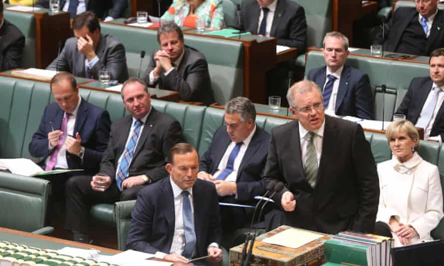 The Minister for Immigration Scott Morrison during question time in the House of Representatives, Tuesday 26th August 2014  #politicslive Photograph  by Mike Bowers for The Guardian Australia