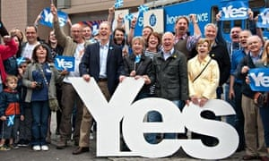 Blair Jenkins with Yes Scotland activists
