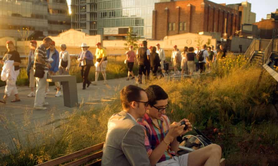 The High Line Park in New York.