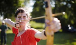 Learning archery in the south downs