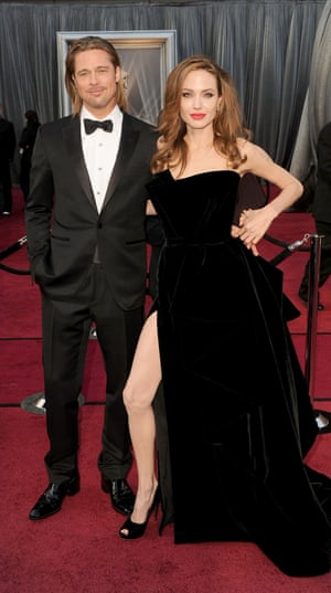 Angelina Jolie And Brad Pitt arrive at the Academy Awards in February 2012.