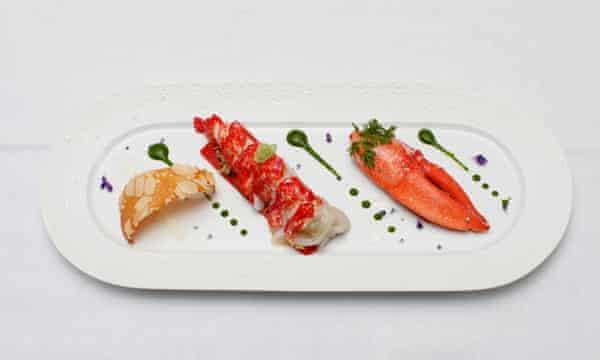 Lobster served at Quattro Passi.