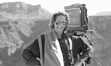 Ken Griffiths at the Grand Canyon on a shoot for Volvo.