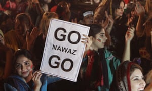 Supporters of Imran Khan rally against the government in Lahore, Pakistan.