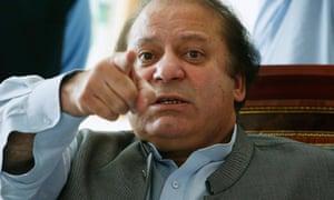 The Pakistan prime minister Nawaz Sharif.