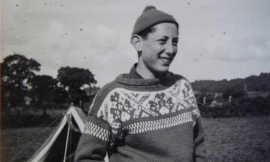 Michael Rosen at a Woodcraft folk camp in the Mendip Hills, c1959.