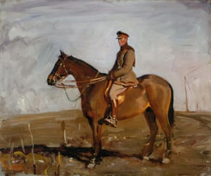 General Jack Seely and Warrior by Sir Alfred Munnings, painted on the western front in 1918.