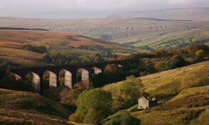 Dent Head Viaduct on the Settle and Carlisle Railway.
