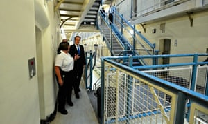 Prime minister David Cameron during a visit to Wormwood Scrubs prison in London