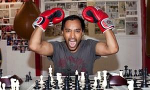 Rhik Sammader tries chessboxing at Islington Boxing Club in north London