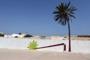 A mural by Polish artist M-city is part of the street art project 'Djerbahood' in the village of Erriadh on the island of Djerba