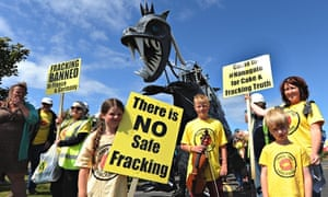 Anti-fracking protest in Blackpool