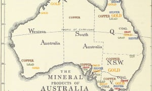 map of australia from the british empire its geography resources commerce land