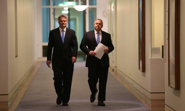 Treasurer Joe Hockey and finance minister Mathias Cormann.