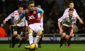 Liverpool on the receiving  end  from the spot this time, Mark Noble notching a  late, late winner five years ago