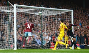 The unseen Diafra Sakho chips Mignolet for the quickfire second.