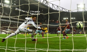 There's nothing that Adrian can do to stop Sterling's effort.